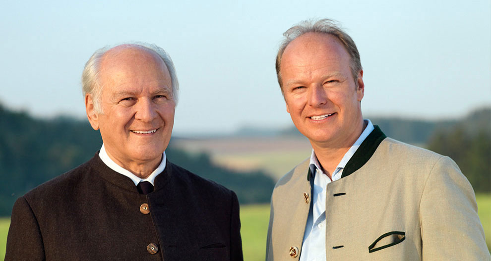 Claus and Stefan Hipp, owners of HiPP